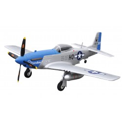 P-51D MUSTANG BLU PNP 4 CANALI SW 75 CM