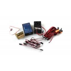 SET DI LUCI LED 5 MM, 2X ROSSO, 2X BIANCO, 2X BLU, 3,4 V-8,4 V.