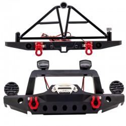 1:10 Paraurti in metallo f/r incl. LED e supporto per la ruota di scorta
