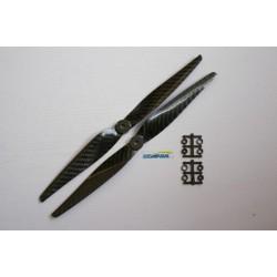 Graupner style CARBONIO DX e SX 1050 10x5 2 pezzi cw ccw
