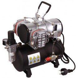 AS-28A Compressorio doppio pistone con serbatoio da 3 litri
