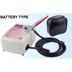 Kit compressore BD-833 con penna per trucco a batteria