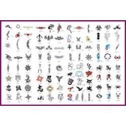 STENCILBOOK 02-100 disegni formato A4 riutirizzabile