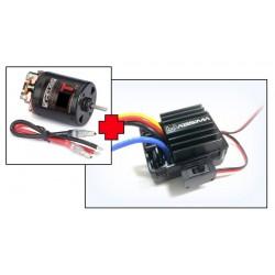 """Motore elettrico """"Thrust B-Spec"""" 55T + 1:10 ESC spazzolato per cingoli e barche, 40"""