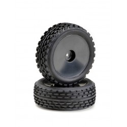 "Set ruote Buggy Disc ""Offroad"" anteriore nero 1:10 (2)"