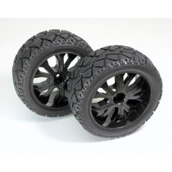 1:10 Buggy Tyres su strada anteriore nero (2)