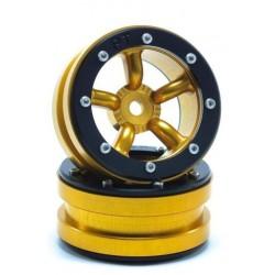 Ruote Beadlock PT-Safari Nero / Rosso 1.9 (2 pezzi)