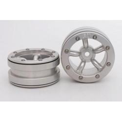 Cerchi Beadlock PT-Safari Silver / Silver 1.9 (2 pezzi)