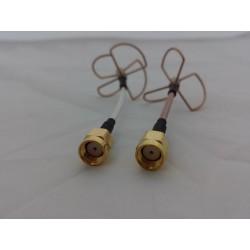 Antenna clover con RPSMA a dritta 5.8G 4 lobi e 3 lobi