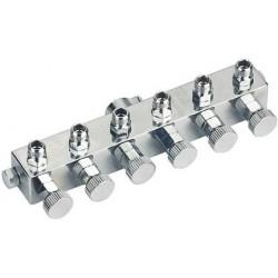 BD-13-6 Adattatore Per  6 Aerografi con rubinetto filetto1/8
