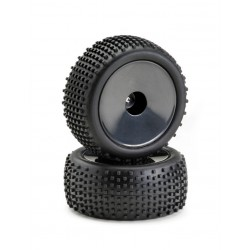 """Set ruote Buggy Disc """"Offroad"""" posteriore nero 1:10 (2)"""